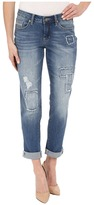 Jag Jeans Patched Alex Boyfriend Capital Denim in Rock Water Blue