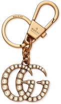 Gucci Double G with pearls key ring