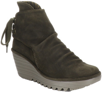 Fly London Yama Leather Wedge Bootie