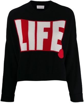 Moncler Life intarsia jumper