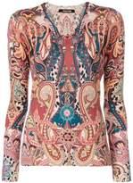 Roberto Cavalli printed knit top