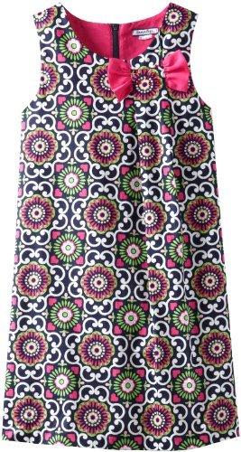 Hartstrings Girls 7-16 Big Printed Stretch Sateen Dress