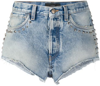 Alanui Stone Wash Denim Shorts