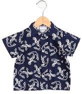 Rachel Riley Boys' Anchor Button-Up Shirt