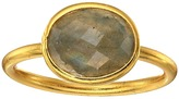 Dee Berkley Single Oval Stone Adjustable Ring Labradorite