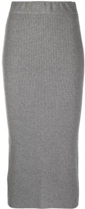 Andamane Ribbed-Knit Pencil Skirt