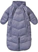 Mini A Ture Blue-Grey Convertible Snowsuit Bunting