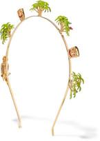 Rosantica Palma Gold-tone Enameled Headband - one size