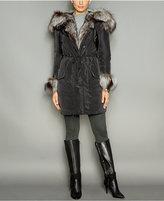 The Fur Vault Fox-Fur-Trim Hooded Down Parka