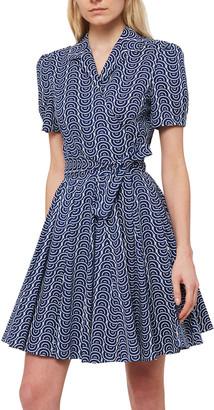 Diane von Furstenberg Evalina Cotton-Poplin Mini Wrap Dress