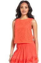 Rachel Roy Top, Sleeveless High-Neck Lace Tank