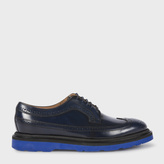 Paul Smith Men's Navy Calf Leather 'Grand' Brogues