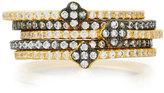 Freida Rothman CZ Crystal Clover Stacking Rings, Set of 5