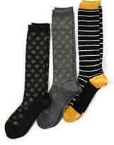 Classic Women's Seamless Trouser Socks (3-pack)-Black