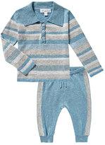 Angel Dear Take Me Home Multi-Stripe Polo w/ Joggers, Size 3-18 Months