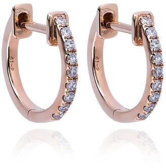 Rosa de la Cruz Diamond Hoop Earrings