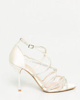Le Château Jewel Embellished Satin Strappy Sandal