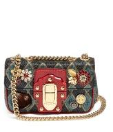 Dolce & Gabbana Lucia embellished jacquard shoulder bag