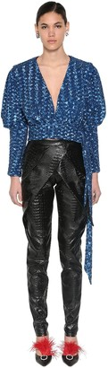 Giuseppe Di Morabito SEQUINED WRAP CROPPED TOP