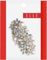 Elle Silver Pearl/Rhinestone Barrette