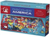 """Crocodile Creek Discover America Learn Play 100 piece Jigsaw Floor Puzzle and 21 Figures, 36"""""""