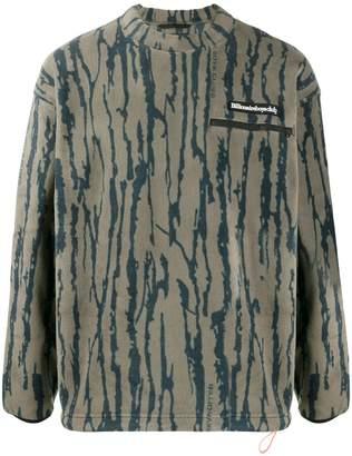 Billionaire Boys Club patterned logo patch sweatshirt