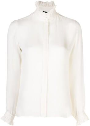 Nili Lotan Orin ruffled-collar blouse