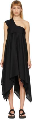 Issey Miyake Black Square Petal One-Shoulder Dress