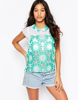 Traffic People Send Me No Flowers Top In Floral Crochet
