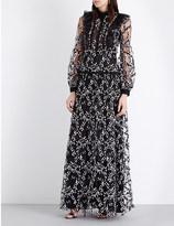 Giambattista Valli Embroidered silk and tulle gown