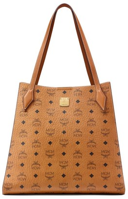 MCM Luisa Visetos Leather Shopper