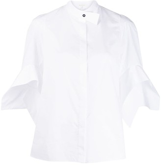 DELPOZO Flared Short-Sleeve Shirt