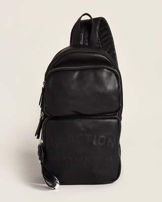 Kenneth Cole Reaction Black Pop Culture Mid Vegan Sling Backpack