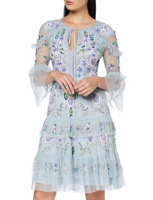 Frock and Frill Women's Ioana Embellished 3/4 Sleeve Midi Dress Party