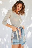 BDG Denim Patchwork Mini Skirt