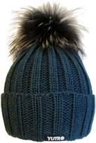 Trendy Fox Pom Wool Winter Ski Hat by YUTRO Fashion