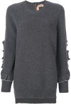 No.21 ruffle sleeve jumper - women - Virgin Wool - 40
