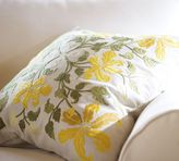 Day Lily Embroidered Pillow Cover