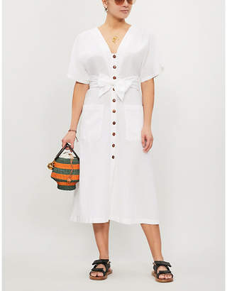 Seafolly Ocean Alley linen and cotton-blend midi dress
