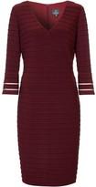 Adrianna Papell Flared Sleeve Pintuck Dress