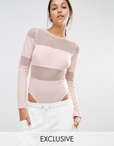 Missguided Exclusive Fishnet Panel Body