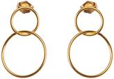 Dogeared Karma Linked Circle Drop Earrings, Gold
