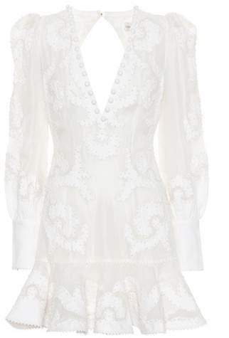 Zimmermann Radiate linen and silk minidress