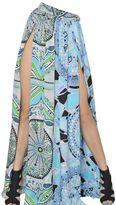 Emilio Pucci Printed Silk Charmeuse Long Skirt