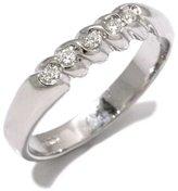Tatitoto Gioie Women's Ring in 18k Gold with Diamond H/SI (total diamonds 0.10 ct), Size 6.5, 4.6 Grams