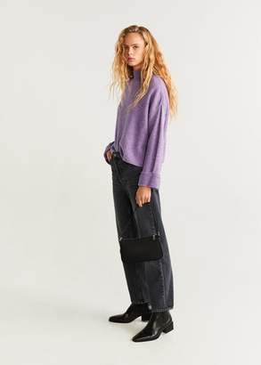 MANGO Rolled-up sleeves sweater