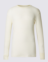M&s Collection Long Sleeve Thermal Vest With Merino Wool