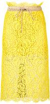 Sacai floral lace midi skirt - women - Cotton/Nylon/Polyester/Rayon - 2