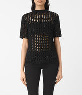 AllSaints Alyse Embellished Top