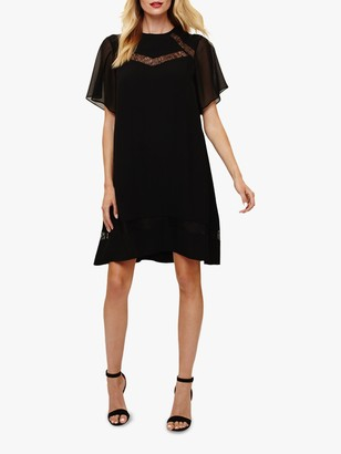 Phase Eight Jaycee Lace Swing Mini Dress, Black